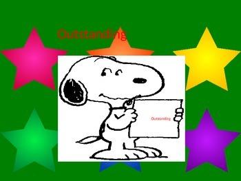 Snoopy behavior choices chart