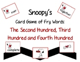 Snoopy's Card Game of Fry Words: The Second, Third and Fourth Hundred Words