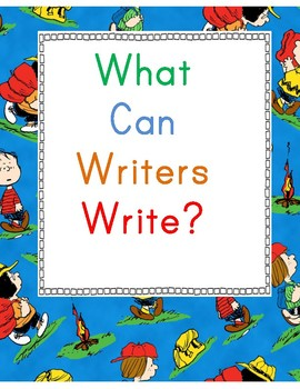 Snoopy's Writing Center