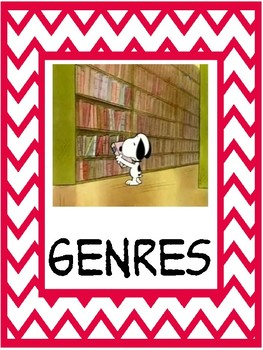 Snoopy theme Non-fiction genre signs