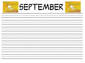 Snoopy theme year long writing- 2nd grade