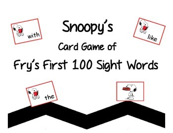 Snoopy's Card Game of Fry's First 100 Sight Words