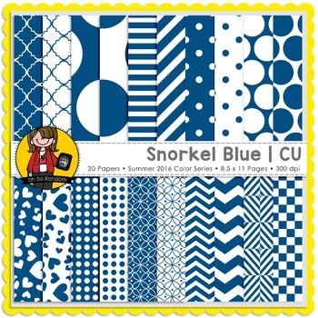 Snorkel Blue Digital Papers {CU}