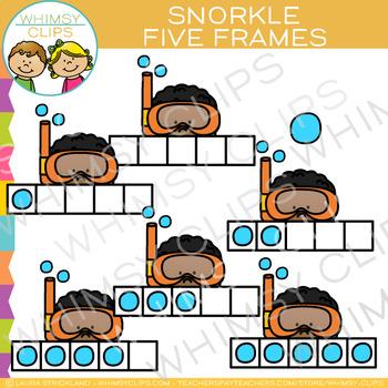 Snorkel Five Frames Clip Art