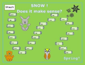 Reading Comprehension  -  Snow