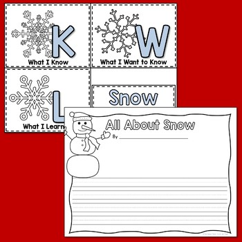 Snow Non-Fiction PowerPoint and Printables