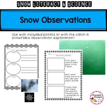 Snow Activities {Science and Literacy}