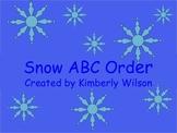 Snow ABC Order