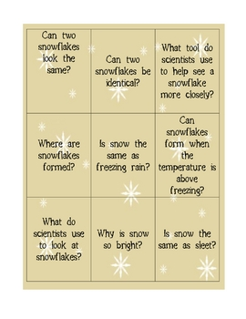 Snow Activities Packet
