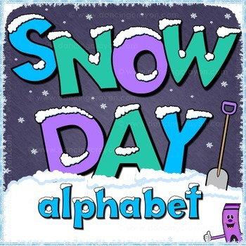 Snow Day Alphabet Letters Clip Art | Bulletin Board Letters and Numbers Clipart