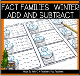 Snowball/Winter Fact Families for Addtion and Subtraction