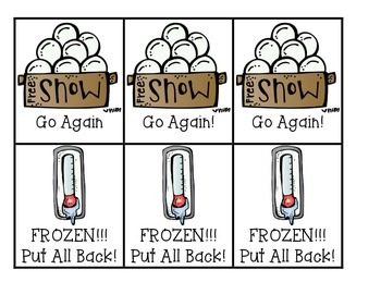 Snow Ball Fight Sight Word Game version 2