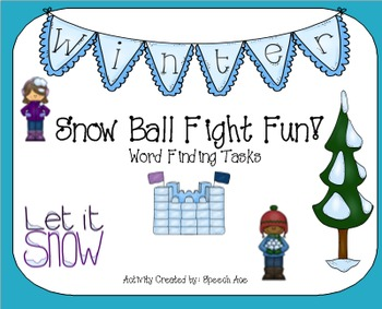 Snow Ball Fight: Word Finding
