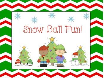 Snow Ball Fun:FREEBIE