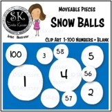 Snow Balls Number Tiles, Moveable Pieces, Digital Screen Use