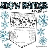 Snow Banner Freebie!