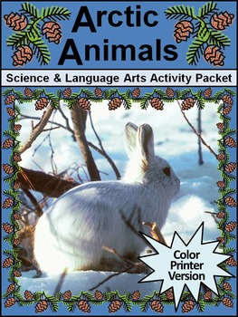 Polar Bear Activities: The Snow Bear & Arctic Animals Winter Activity Bundle