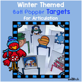 Winter Themed Ball Popper Targets for Articulation