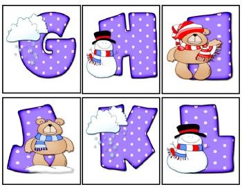 Snow Bears Letter Cards