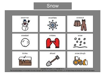 Snow Bingo! [speech therapy and autism]