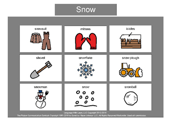 Snow Bingo! Multiple Boards [speech therapy and autism]