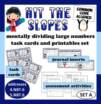 Hit the Slopes: mental division of large numbers task card