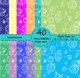 Snow Bubble Digital Paper