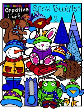 Snow Buddies 2 {Creative Clips Digital Clipart}