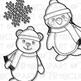 Snow Buddies Clip Art (Digital Use Ok!)