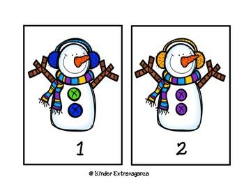 Snow Buddies Counting Mats