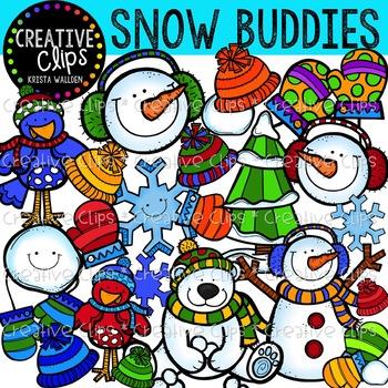 Snow Buddies Winter Clipart {Creative Clips Clipart}