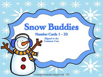Snow Buddies Number & Ten Frame Cards (expanded) Aligned to the CCSS