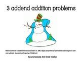 Snow Buddy 3 Addend Associative Property of Addition