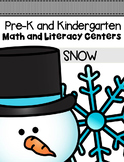 Snow Centers and Activities for Pre-K/Kindergarten