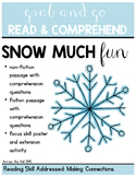 Snow Comprehension Activities
