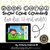 Snow Cone Counting BOOM Cards - Subitizing: Two Dice (12 a