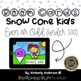 Snow Cone Kids: BOOM Cards - Even or Odd (Under 100)