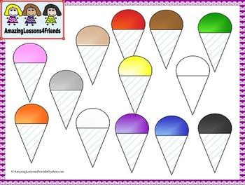 Snow Cones Clipart