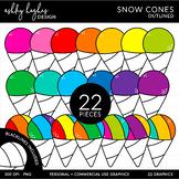 Snow Cones Clipart {A Hughes Design}