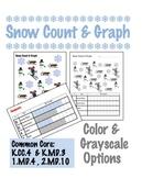 Snow Count & Graph  - Common Core Measurement & Data