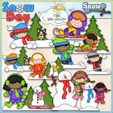 Snow Day Clip Art - Winter Kids Clip Art - CU Clip Art & B&W
