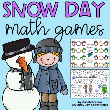 Snow Day! {6 Winter Math Games and Activities}