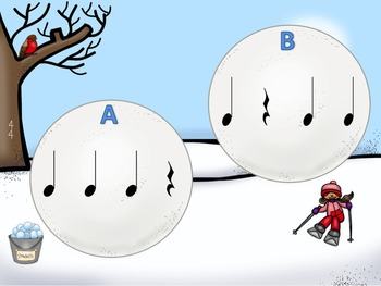 Snow Day - A Bundle of 4 Fly-Swatting Games to Practice Rhythm