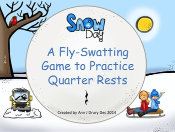 Snow Day - A Fly-Swatting Game to Practice the Quarter Rest