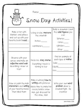 Snow Day Activities: Fun & Easy At- Home Ideas