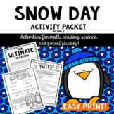 Snow Day Activity Packet #2- Intermediate Grades