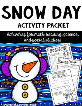 Snow Day Activity Packet-ALL SUBJECTS (Intermediate)