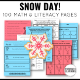 Snow Day Activities Packet distance learning