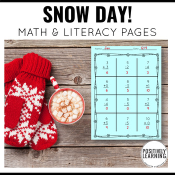 Snowy Day Pages Free