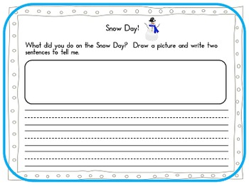 Snow Day! - first and second grade